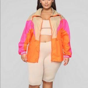 NWT- Multi-Color Windbreaker Jacket